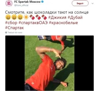 Reprodução/ Twitter Spartak Moscou