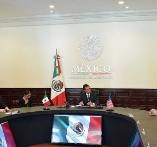 AFP PHOTO/PRESIDENCIA DE MEXICO/HO