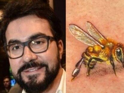 Padre faz tatuagem de abelha na mão e explica homenagem à mãe