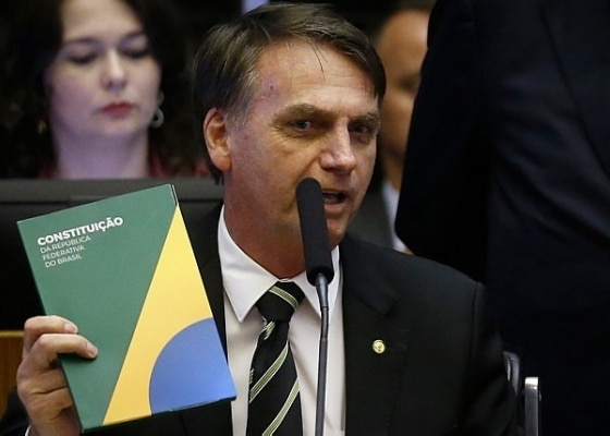 Bolsonaro participou de sessão solene no Congresso ao lado de Temer, Toffoli e várias autoridades. Foto: Dida Sampaio/Estadão
