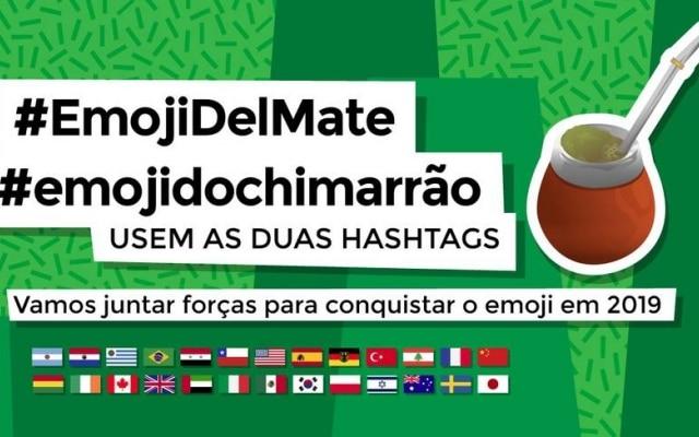 A equipe está organizando uma campanha nas redes sociais para fortalecer a ideia do emoji do mate