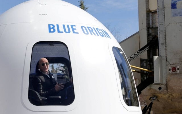 Jeff Bezos é fundador do Blue Origin
