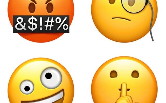 Nas novas carinhas, a Apple trouxe expressões novas de raiva e confusão, além de um emoji que parece investigar algo e outro que pede silêncio.