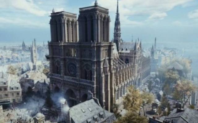 O Ubisoft demorou 14 meses para construir a versão digital da Notre Dame para o Assassin's Creed
