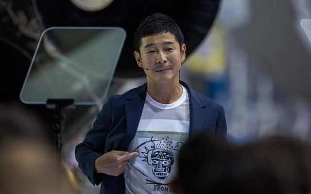 Yusaku Maezawa, de 42 anos, é o fundador e CEO da Zozo, a maior varejista de moda online do Japão
