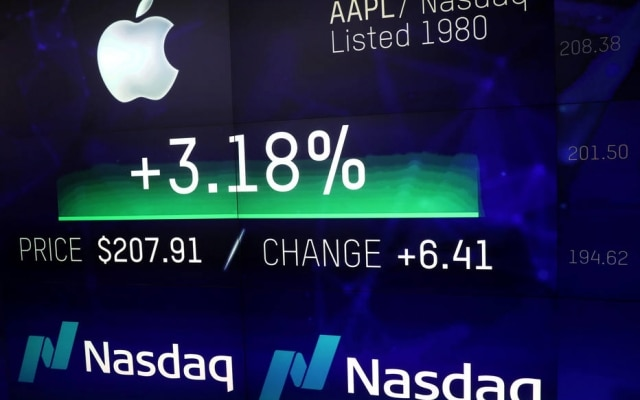 Apple atinge a marca de US$ 1 trilhão após valorização Nasdaq