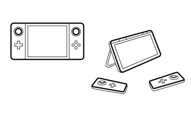 Imagem-conceito do controle Nintendo NX publicada pelo Eurogamer: botões de controle poderão ser destacados da tela.