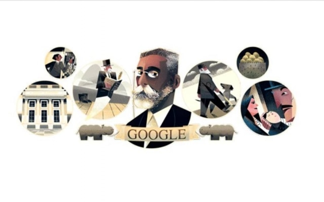 Doodle do dia homenageia Machado de Assis