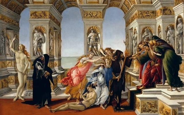 Pintor grego mítico também aparece em quadro de Botticelli,A Calúnia de Apeles