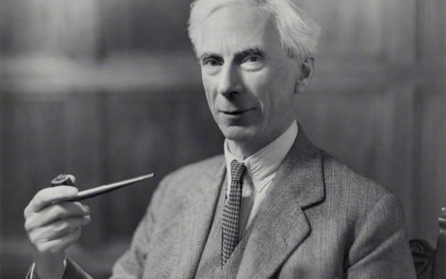 O filósofo inglês Bertrand Russell