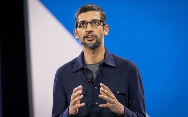 O presidente executivo do Google, Sundar Pichai, participou em setembro de um encontro privado com parlamentares republicanos