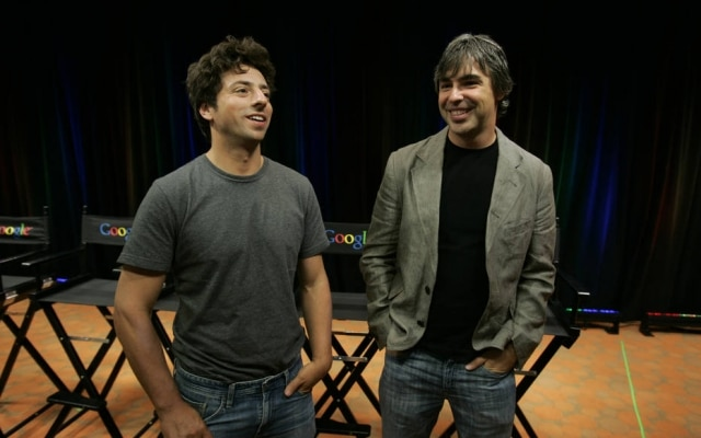 Sergey Brin e Larry Page, fundadores do Google
