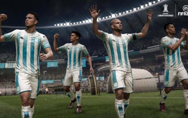 Racing, da Argentina, é o único time da Libertadores que terá estádio, uniformes e nome dos jogadores no game