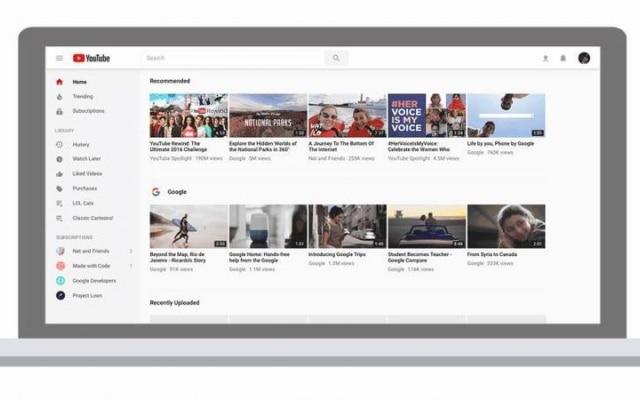 A versão para desktop foi redesenhada usando a estética Material Design, que já é aplicada no buscador do Google, no Android e no Docs.