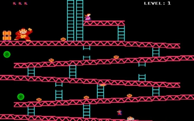 O jogo de Donkey Kong, lançado originalmente em 1981, foi o primeiro em que o encanador Mario apareceu