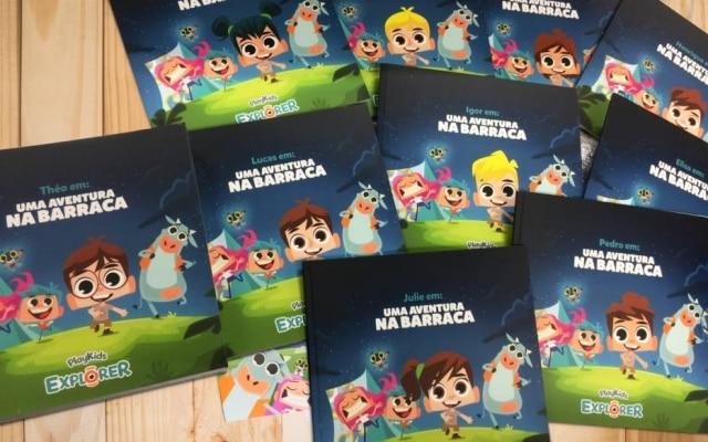 O PlayKids Explorer é um clube de leitura que manda livros personalizados todos os meses para seus assinantes