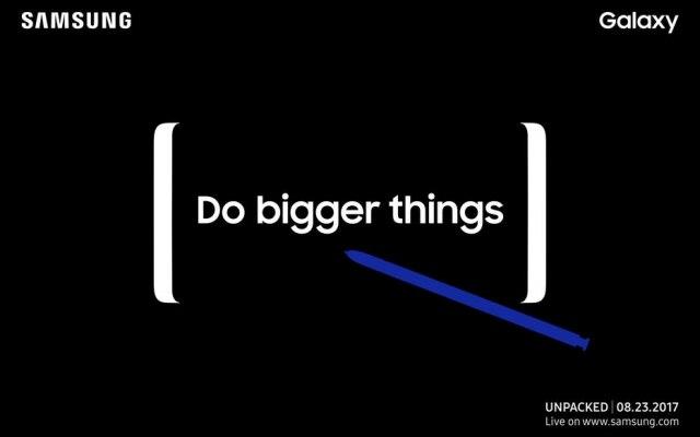 'Faça coisas maiores' era o slogan do convite da Samsung para o evento desta quarta-feira