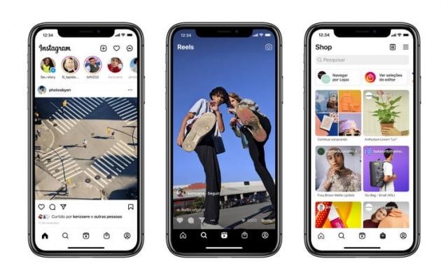 Instagram estreia abas para Reels e Shop