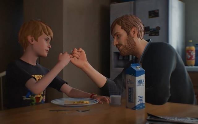 Chris vive com seu pai – ao menos no início, o jogo não explica onde está sua mãe