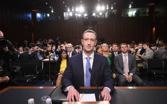 Zuckerberg em audiência no Senado americano