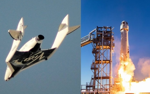 Disputa espacial: SpaceShipTwo, da Virgin, e New Shepard, da Blue Origin