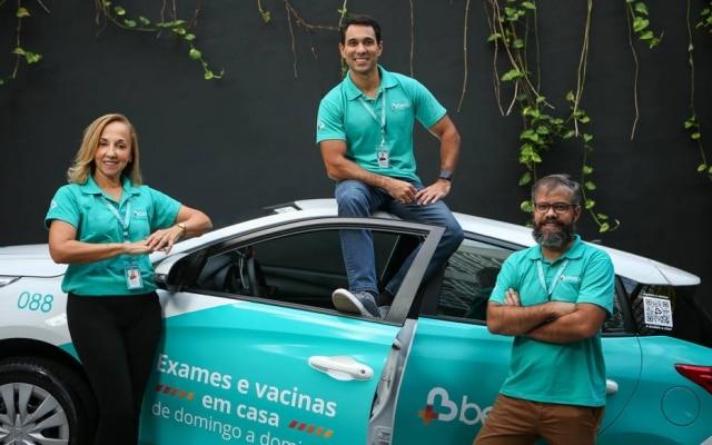 Sonia Correia, Vander Corteze (C) e Luiz Augusto Moreira, da startup carioca Beep Saúde