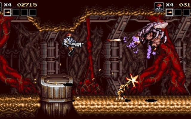 O jogo brasileiro Blazing Chrome, do estúdio Joymasher