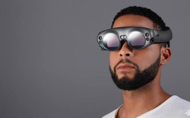 Os futuristas óculos de realidade aumentada Lightwear são a parte mais importante do Magic Leap One Creator Edition, previstos para chegar ao mercado em 2018