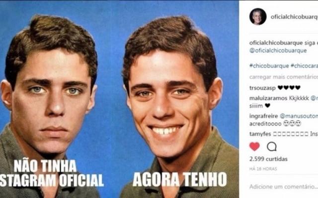 Chico Buarque usou seu próprio meme para anunciar a nova conta no Instagram
