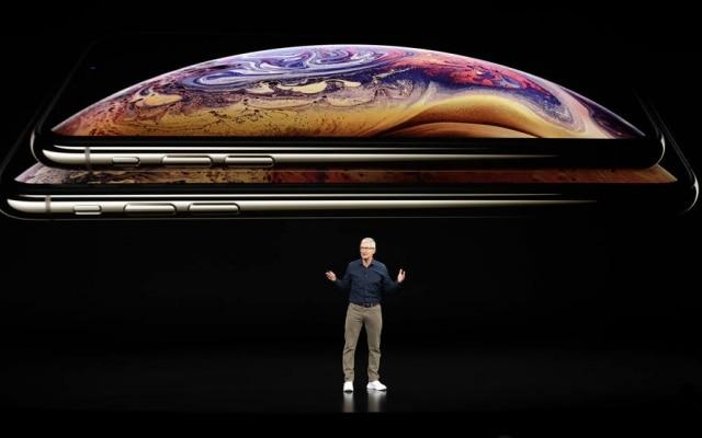Tim Cookapresentou os novos modelos iPhone XS e iPhone XS Max nestaquarta-feira, 12