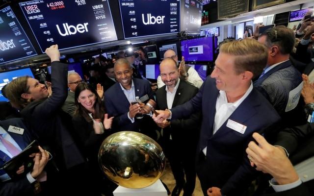 Ações do Uber fecharam o dia abaixo do estimado pela companhia