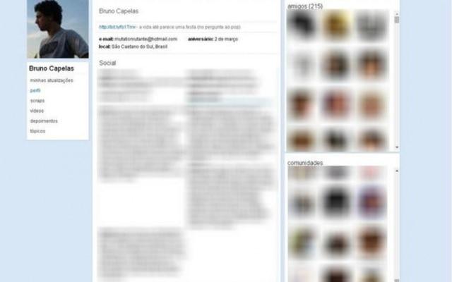 É assim que vai ficar guardado para sempre o meu perfil do Orkut. Não é legal?