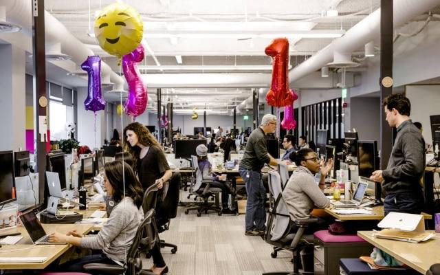 Escritório da startup Slack, no Vale do Silício