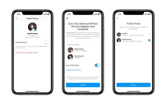 A ferramenta do Facebook também vai permitir a sincronização de detalhes dos perfis nas três plataformas