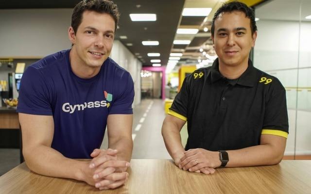 Caldeira, da Gympass, e Santos, da 99: parceria para aumentar base de usuários e reter motoristas em plataforma, respectivamente