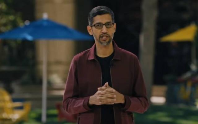 Sundar Pichai, presidente do Google, abre o Google I/O 2021
