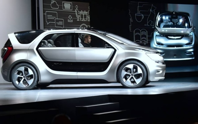 A Fiat apresentou, durante a CES, a Portal, uma minivan elétrica e parcialmente autônoma