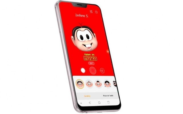 Asus lança o Zenfone 5 no Brasil com emojis animados da Turma da Mônica