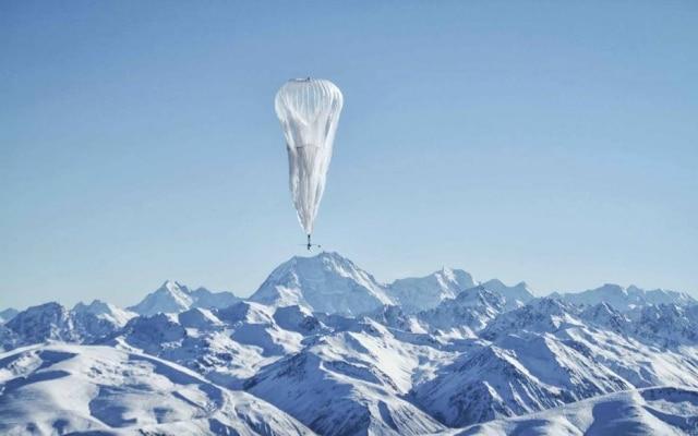Com o projeto Loon, o Google usa balões em altas altitudes para levar 4G a áreas remotas do planeta.