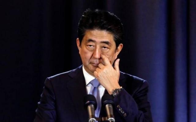 O primeiro ministro do Japão, Shinzo Abe, durante conferência em Buenos Aires, na Argentina