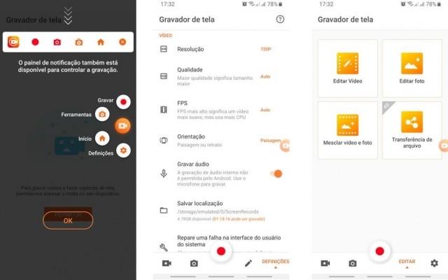 O Gravador de tela da InShot Inc. é um dos melhor avaliados na loja de aplicativos do Google. Ele tem praticamente as mesmas funções do AZ Gravador de tela, mas é possível adicionar vídeos externos no editor de vídeos, o que torna possível a adição de uma intro ou cortar a gravação em várias partes para serem juntadas novamente depois.