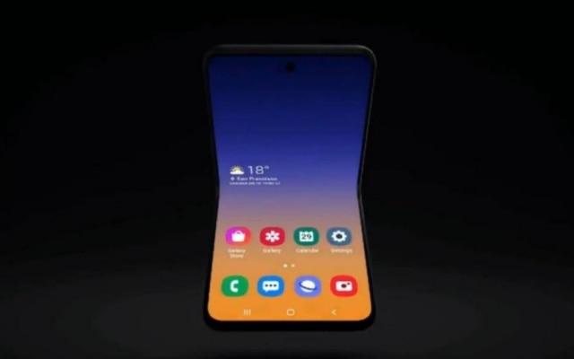 Conceito de celular dobrável da Samsung