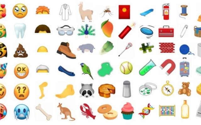 """Além do """"cocô triste"""", atualização do pacote de emojis pode incluircupcake, pavão e extintor de incêndio."""