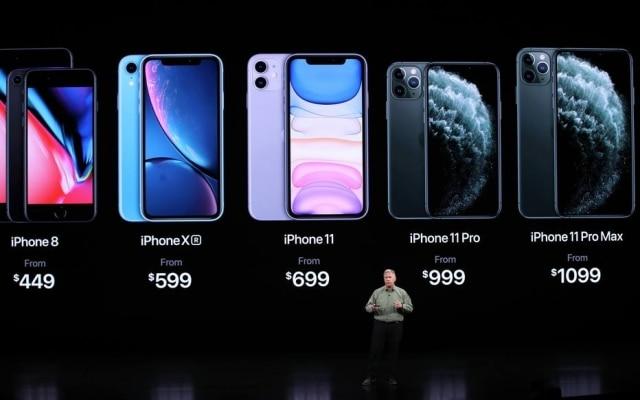 Os seis modelos (na foto, iPhone 8 representa o iPhone 8 e o 8 Plus) que a Apple manteve à venda no mercado