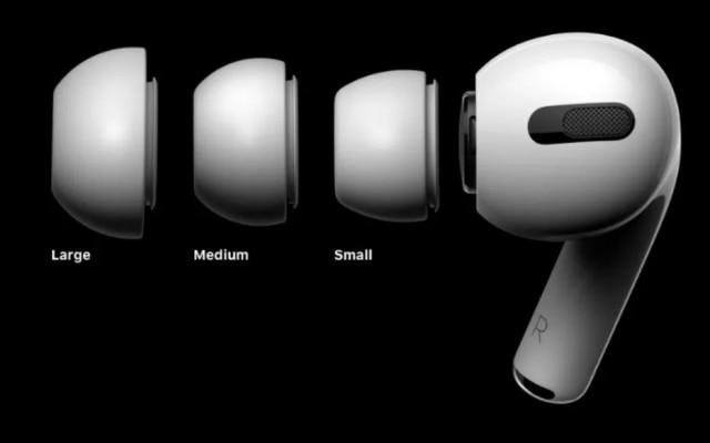 Os fones possuem pontas flexíveis em três tamanhos. Para verificar se o tamanho escolhido é o correto, a Apple disponibiliza um teste de áudio