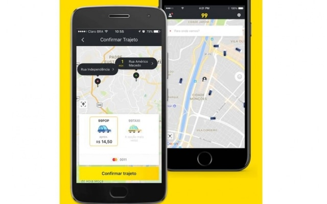 A 99 é um aplicativo de transporte rival do Uber