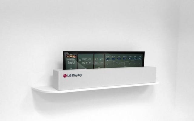 LG apresentou um protótipo de televisão flexível com 65 polegadas na CES 2018