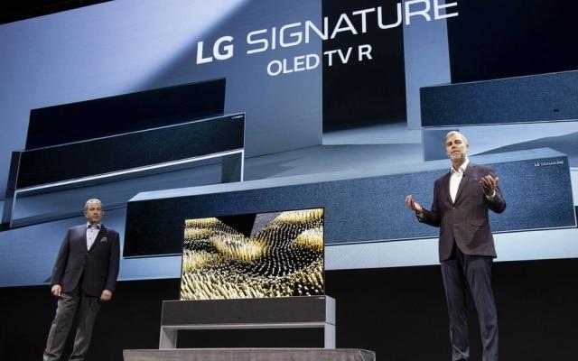 A TV da LG que pode ser enrolada foi um principais destaques da CES 2019