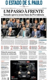 Capa O Estado de São Paulo - Quarta, 23 de outubro de 2019