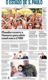Capa O Estado de São Paulo - Segunda, 24 de fevereiro de 2020